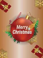 Frohe Weihnachten Einladungsflyer mit kreativer Illustration vektor