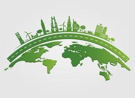 eco city konceptidéer vektor