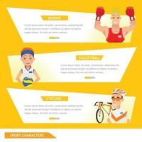 info grafisk sportboxning, volleyboll och cykling vektor