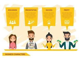 Geschäftsleute Charaktere Design vektor