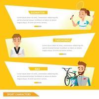 Info Grafik Sport Badminton, Taekwondo und Fahrradfahrer vektor
