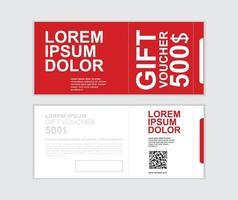 Geschenkgutschein Vektor Design Vorlage Set