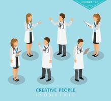 Menschen isometrisches Krankenhaus und medizinische Versorgung vektor