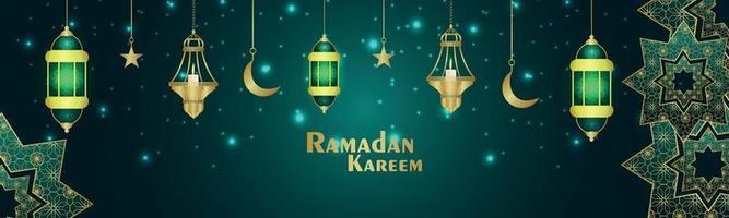 Ramadan Kareem oder Eid Mubarak Islamisches Festival vektor