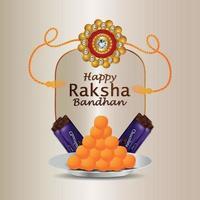 vektorillustration av glad raksha bandhan firande gratulationskort vektor