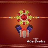 Vektorillustration der glücklichen Raksha Bandhan-Feier-Grußkarte vektor