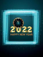 nytt år firande gratulationskort vektor