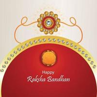 kreative Vektorillustration der glücklichen Raksha Bandhan Feier Grußkarte vektor