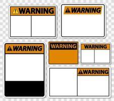 Symbol Warnschild Etikett auf transparentem Hintergrund vektor