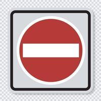 Symbol kein Eintrittsschild auf transparentem Hintergrund vektor