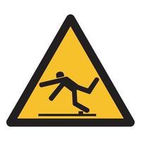 Vorsicht vor Stolpergefahrsymbol vektor