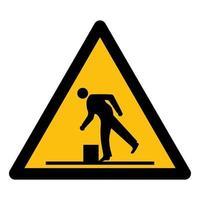 Vorsicht vor Hindernissymbolen vektor