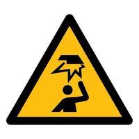 Vorsicht vor Überkopf-Hindernissymbol vektor