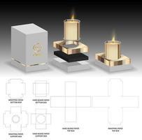 Aromakerze Paket Box Design 3D-Modell vektor