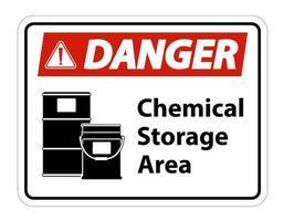 Gefahr Chemiespeicher Symbol Zeichen vektor