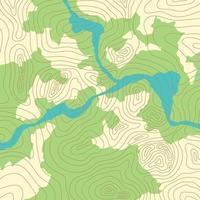 topografische Karte mit Wald und Bächen vektor