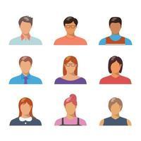 folk avatar samling vektor
