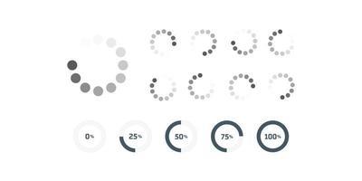 vektor ladda ner eller ladda upp statusikon illustration, ladda ikon. cirkel webbplats buffert loader.
