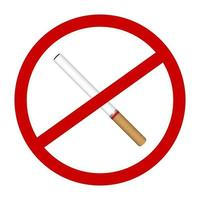 kein Rauchzigarettenikonenverbotszeichenvektor vektor