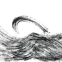 Pinselstriche Vektor nahtloses Muster. schwarze Farbe Freihand kritzelt, abstrakter Tintenhintergrund. Pinselstriche, Abstriche, Linien, Kringelmuster. abstraktes Tapetendesign, Textildruckvektorillustration