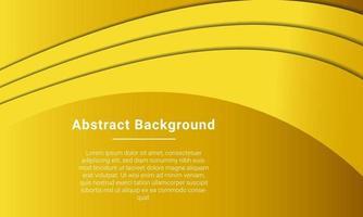 stilvoller gelber Kurvenhintergrund vektor