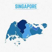 Singapur detaillierte Karte mit Regionen vektor