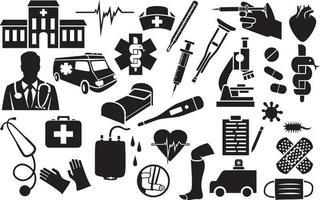 medizinische Symbole eingestellt vektor