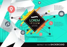 abstrakte Hintergrundgeometriedesign vektor