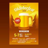 Oktoberfest-Broschüren-Vektor vektor