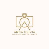 Hochzeitsfotograf Logo Vector