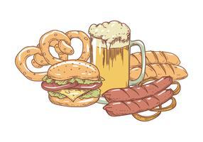Handzeichnung bayerisches Essen vektor