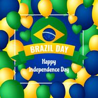 Einzigartige Brasilien-Unabhängigkeitstag-Element-Vektoren vektor