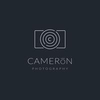 Minimalistischer Fotograf Logo Vector