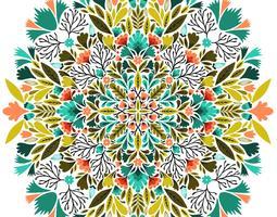 symmetrisches Blumenmuster vektor