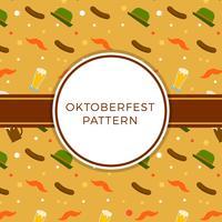 Flacher Oktoberfest-Element-Muster-Vektor vektor