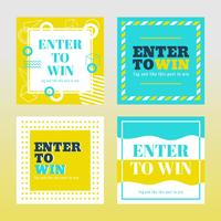 Instagram Contest Mall Vector