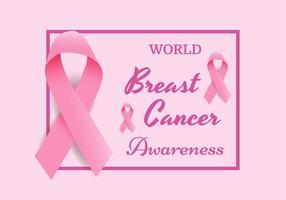 Brustkrebs-Bewusstseins-Band-Vektor