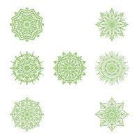 Luxus-Mandala-Zierhintergrunddesign-Satz vektor