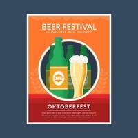 Oktoberfest Flyer Vorlage vektor