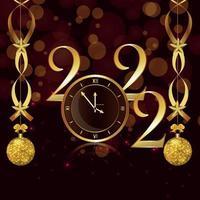 Gott nytt år gratulationskort och bakgrund vektor