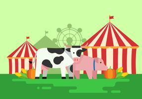 county fair farm produkt vektor