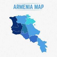 Armenien detaillierte Karte mit Regionen vektor