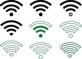 Wi-Fi-Symbole setzen Flat-Line-Icon-Pack mit Variationen vektor