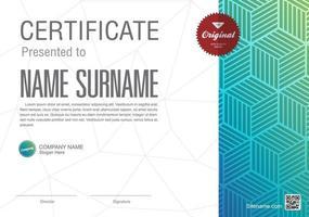 Vorlage für Anerkennungsurkunde, Mehrzweck-Zertifikatsgrenze mit Ausweisdesign vektor