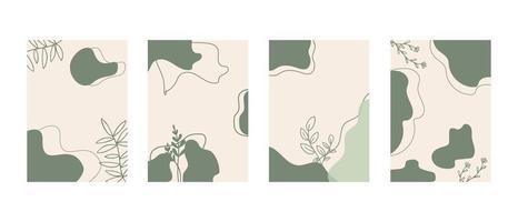 Social-Media-Geschichten, Beiträge, Highlights-Vorlagen. abstrakte Blumenvektorhintergründe mit Kopienraum für Text vektor