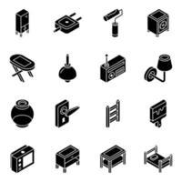 möbler och elektriska apparater vektor