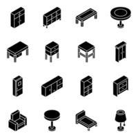 Möbel und Elemente vektor