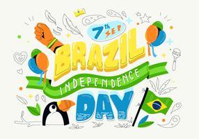 Brasilien-Unabhängigkeitstag-Hintergrund-Typografie-Vektor-Illustration