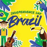 Brasilien-Unabhängigkeitstag-Vektor-Design vektor