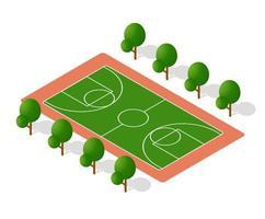 Schulspielplatz für Spiele für Schüler und Schüler. Vektorillustration der Studienausbildung. vektor